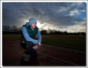 athlete focusing