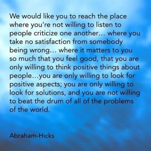 problems abraham hicks