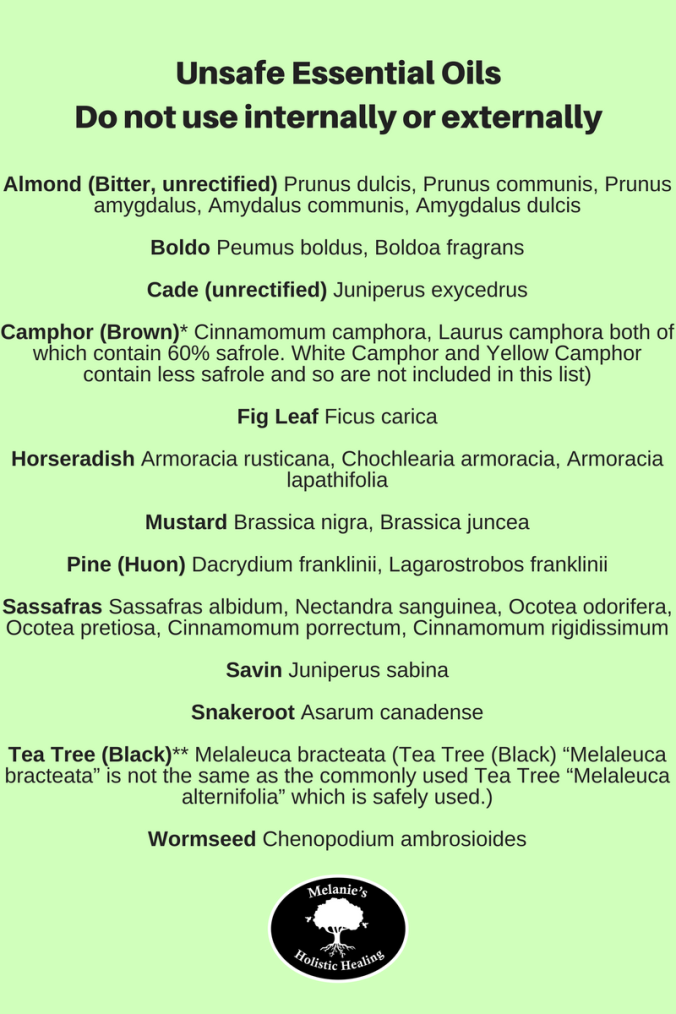 Unsafe essential oils
